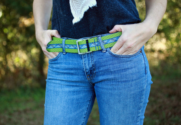 Climbing Rope Belt - Ocean | Upcycled, Recycled, Repurposed, Reimagined | Changing Tides