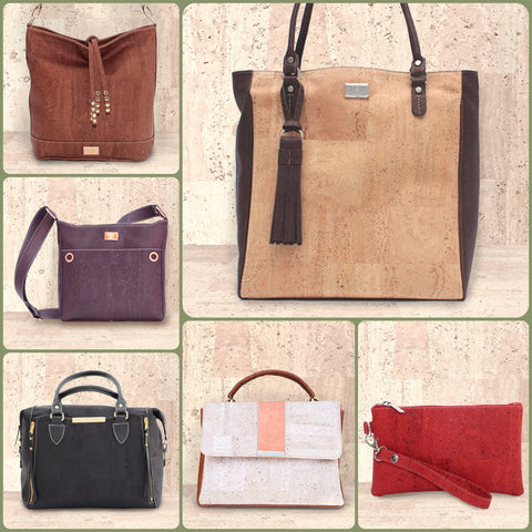 Cork leather bags