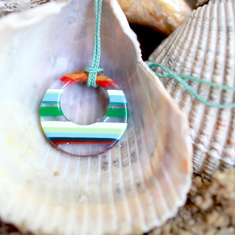 Surfboard Crescent Pendant | Seeds for Kindness