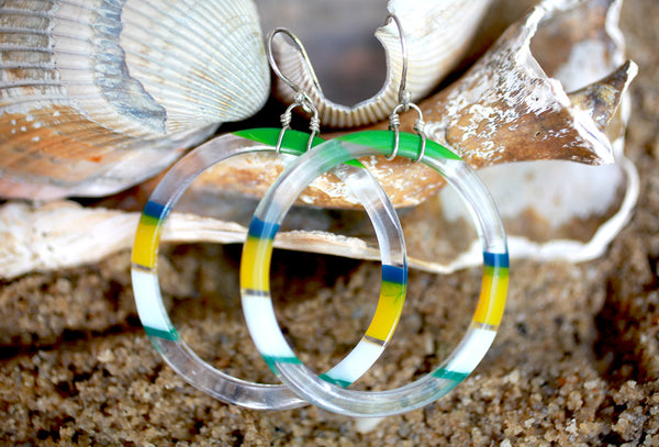 Surfboard Hoop Earrings | Upcycled, Recycled, Repurposed, Reimagined | Changing Tides