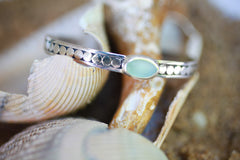 Sea Glass and Sterling Bracelet | Seeds for Kindness