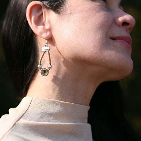 Cork Azeros Earrings | Seeds for Kindness