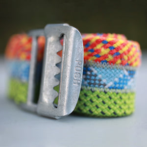 Climbing Rope Belt - Festive | Upcycled, Recycled, Repurposed, Reimagined | Changing Tides