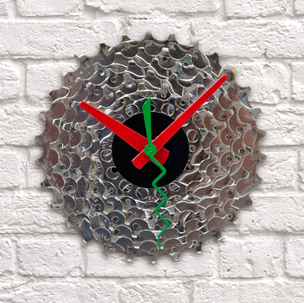 Clock - Bike Gear | Upcycled, Recycled, Repurposed, Reimagined | Changing Tides