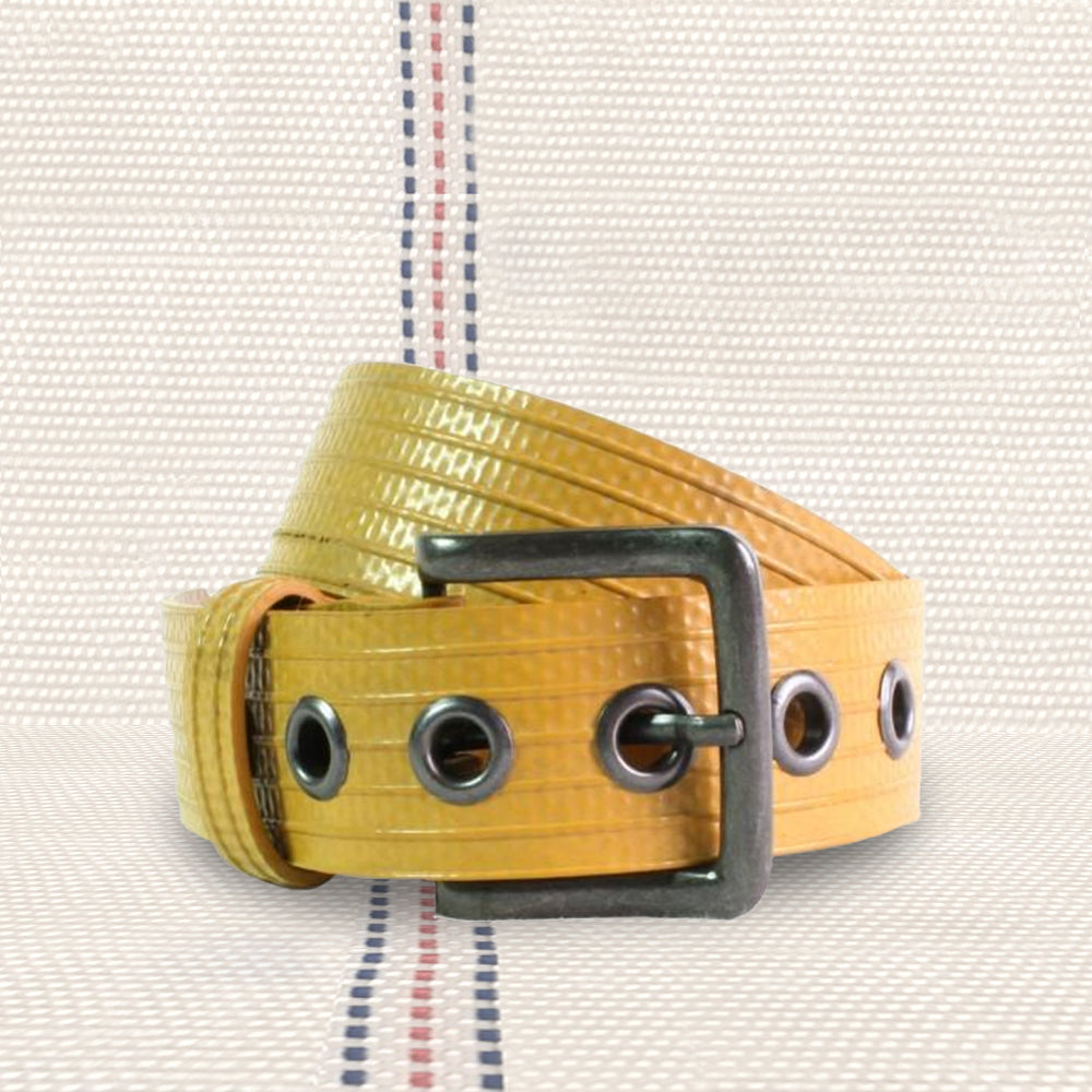 Repurposed Firehose Yellow Belt | Seeds for Kindness
