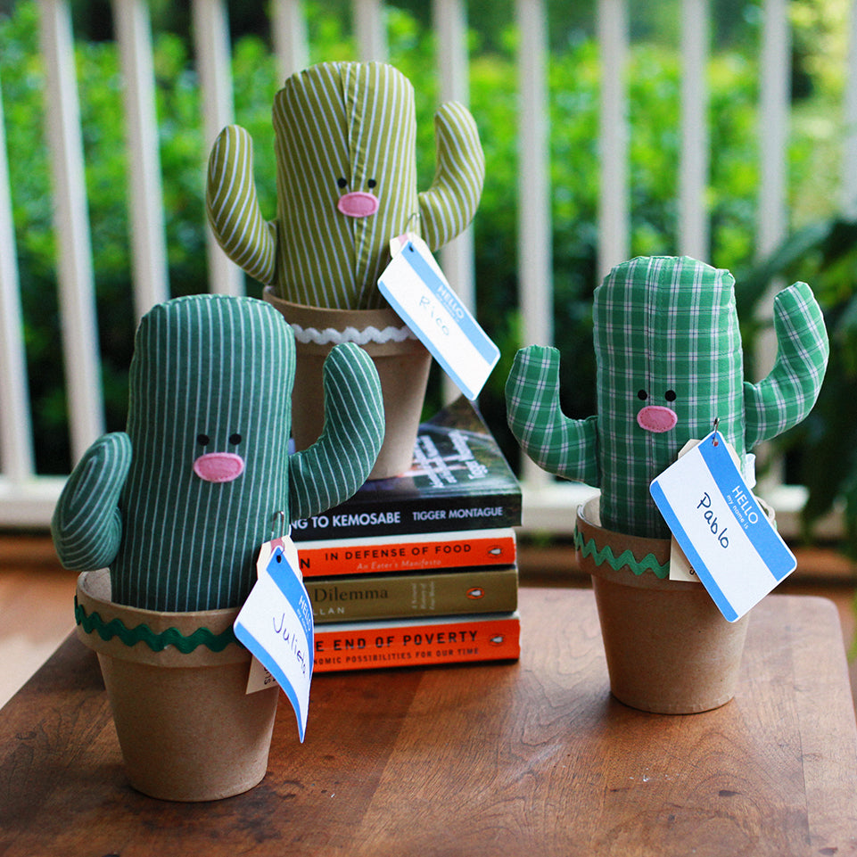 Upcycled Plush Cactus