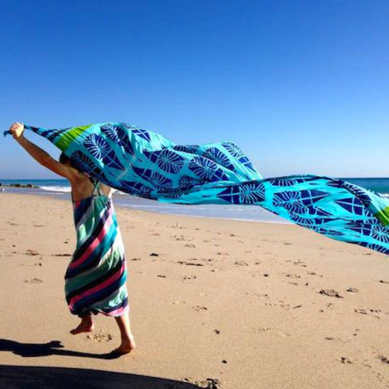 Cerulean Scarf | Upcycled, Recycled, Repurposed, Reimagined | Changing Tides