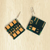 Circuit Board Square Earrings | Seeds for Kindness