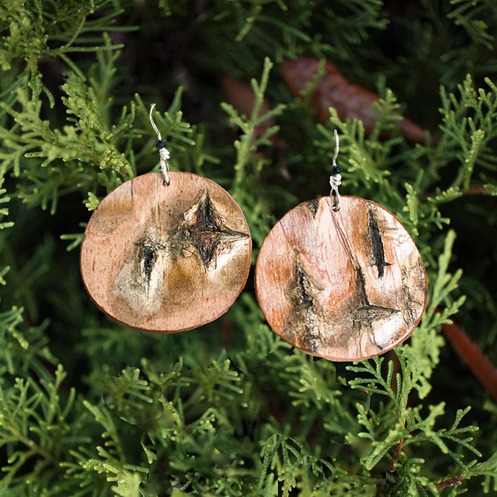 Birch Earrings - Large Round