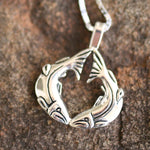 Native Salmon Heart Necklace