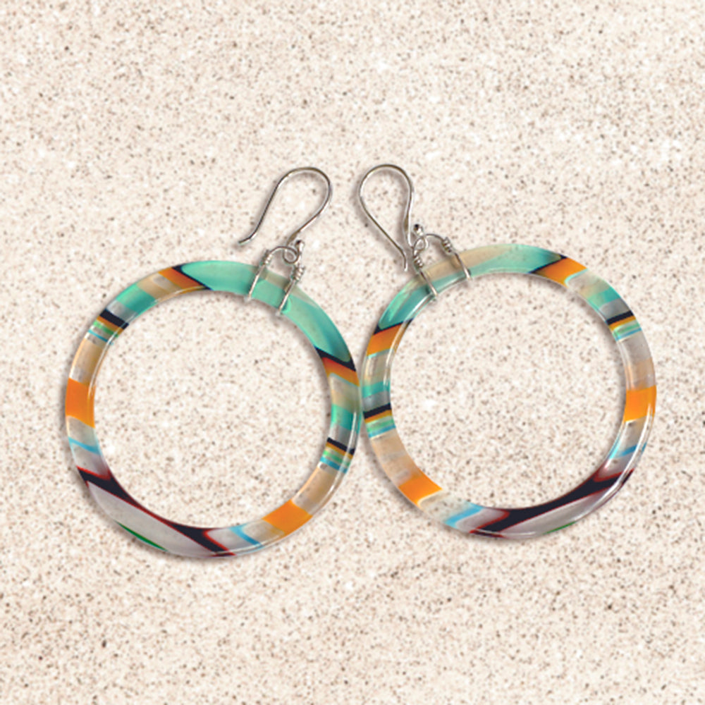 Surfboard Hoop Earrings | Seeds for Kindness