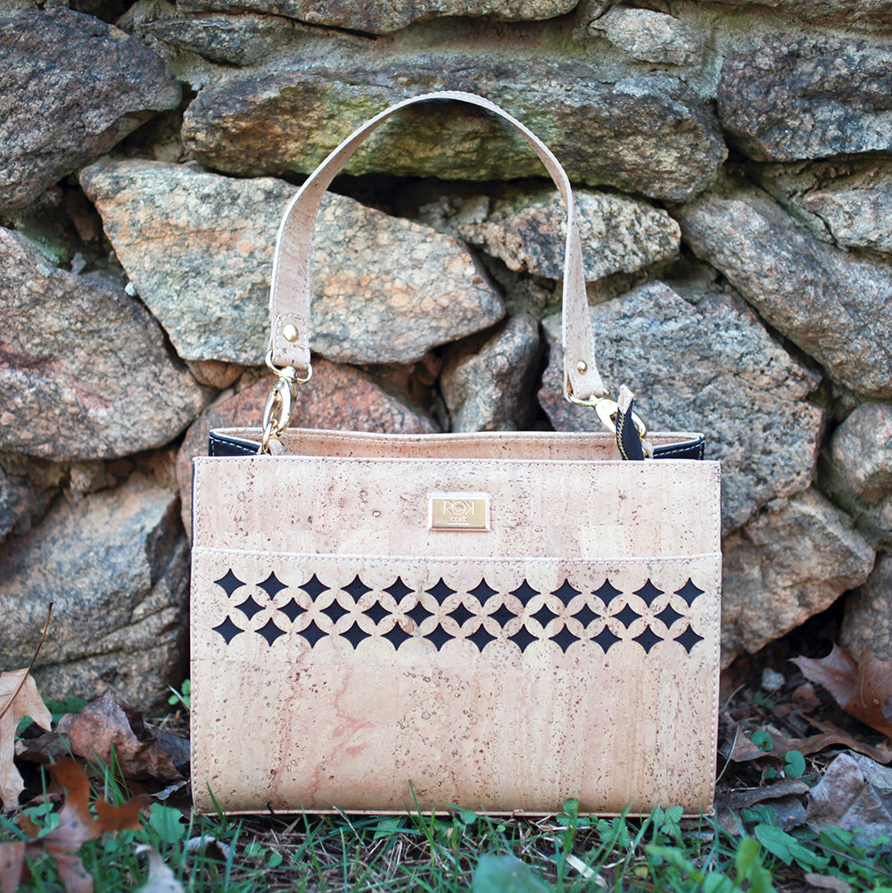 Cork Joannie Handbag | Upcycled, Recycled, Repurposed, Reimagined | Seeds for Kindness