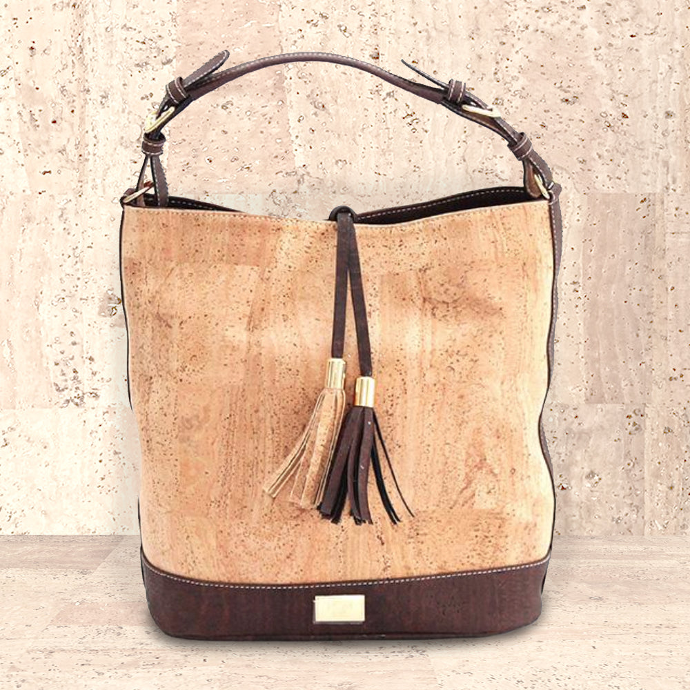 Cork Julia Hobo Bag | Upcycled, Recycled, Repurposed, Reimagined | Changing Tides
