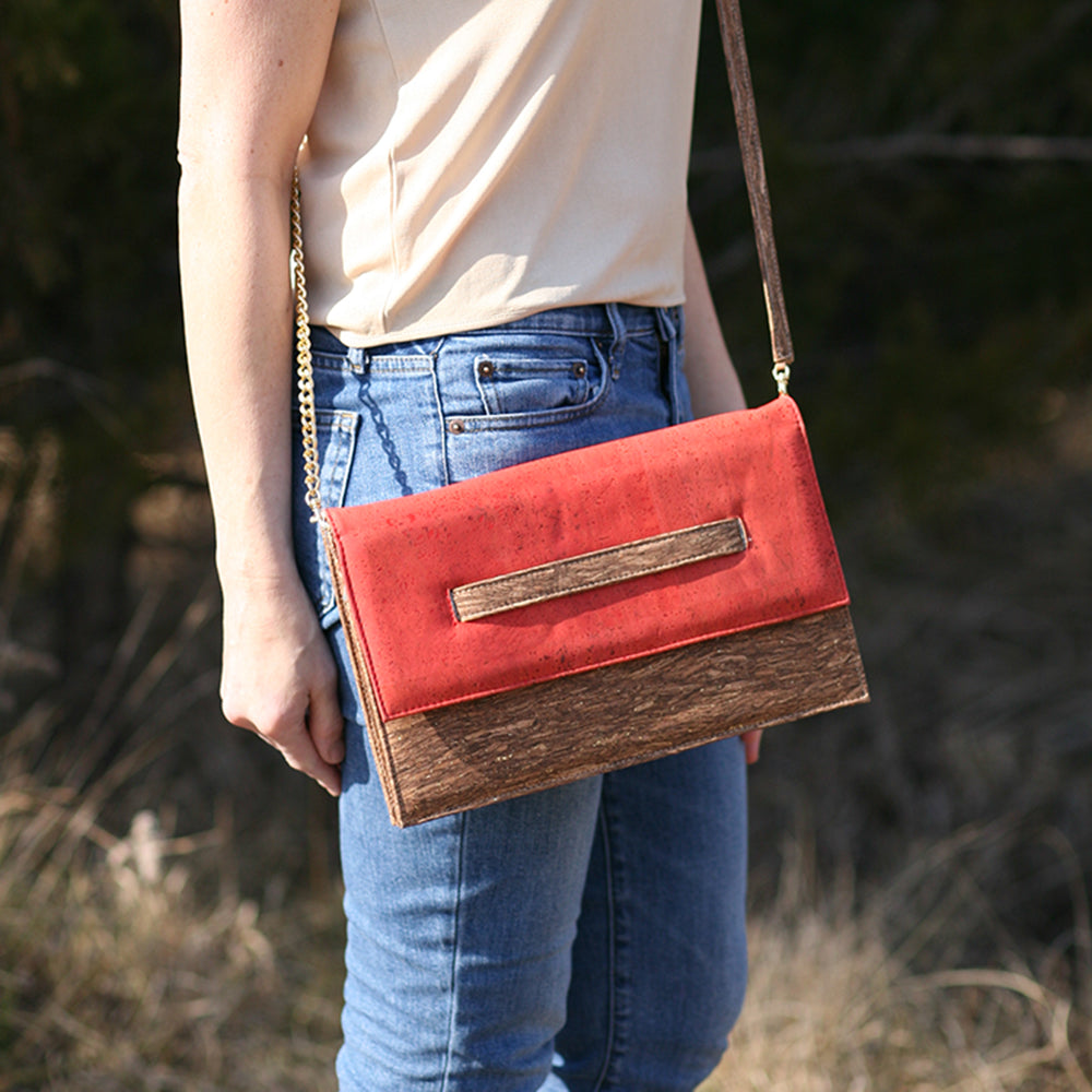 Cork Kappi Crossbody Bag | Upcycled, Recycled, Repurposed, Reimagined | Changing Tides