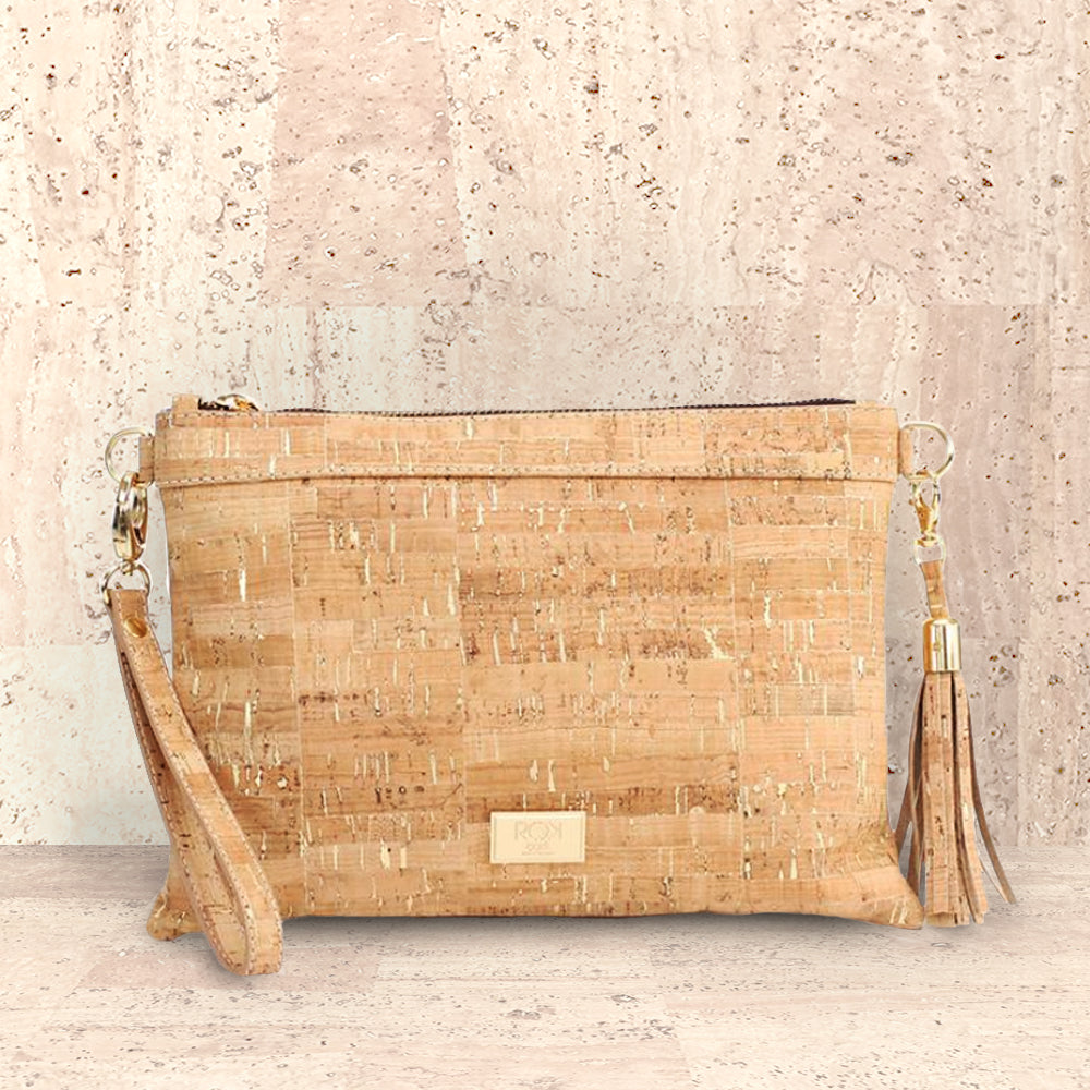 Cork Medlyn Clutch | Upcycled, Recycled, Repurposed, Reimagined | Seeds for Kindness