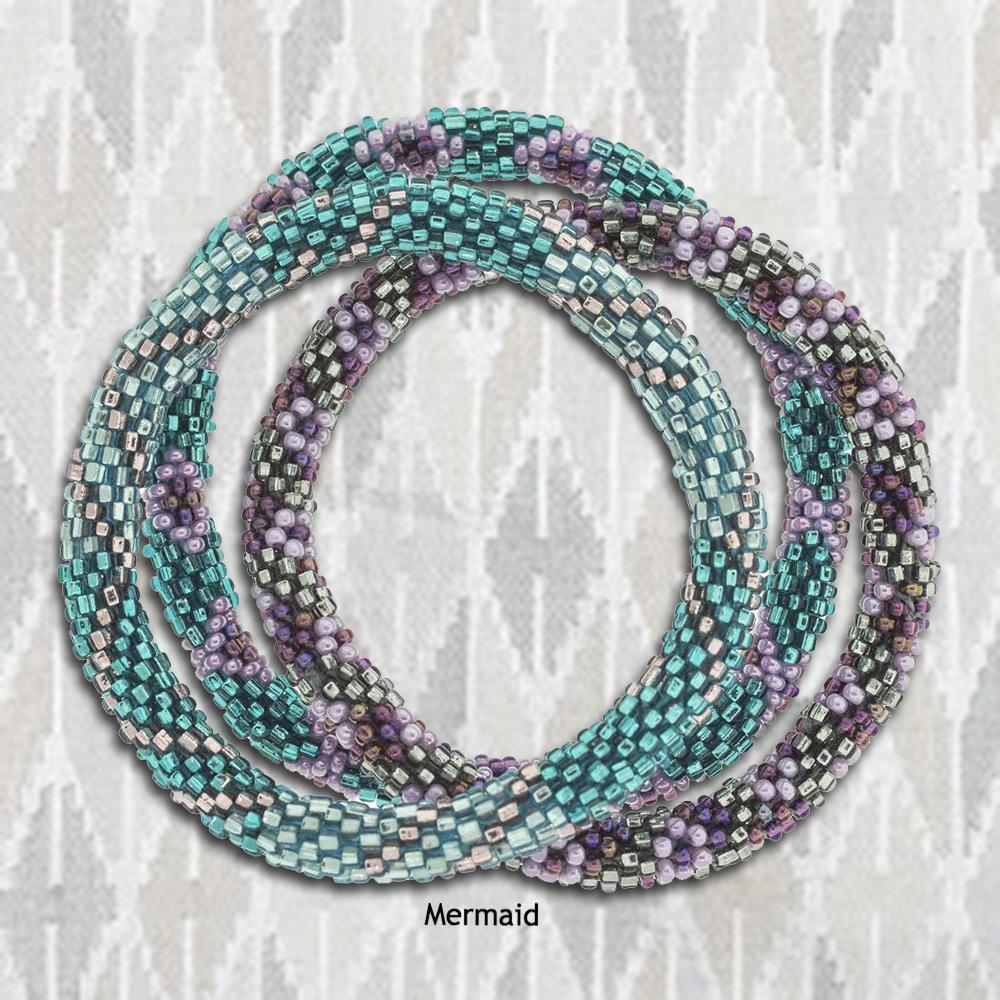 Roll-On® Bracelets: Sets of 3 - Mermaid | Upcycled, Recycled, Repurposed, Reimagined | Changing Tides