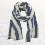 Cashmere Scarf - Nautical Stripe | Upcycled, Recycled, Repurposed, Reimagined | Changing Tides