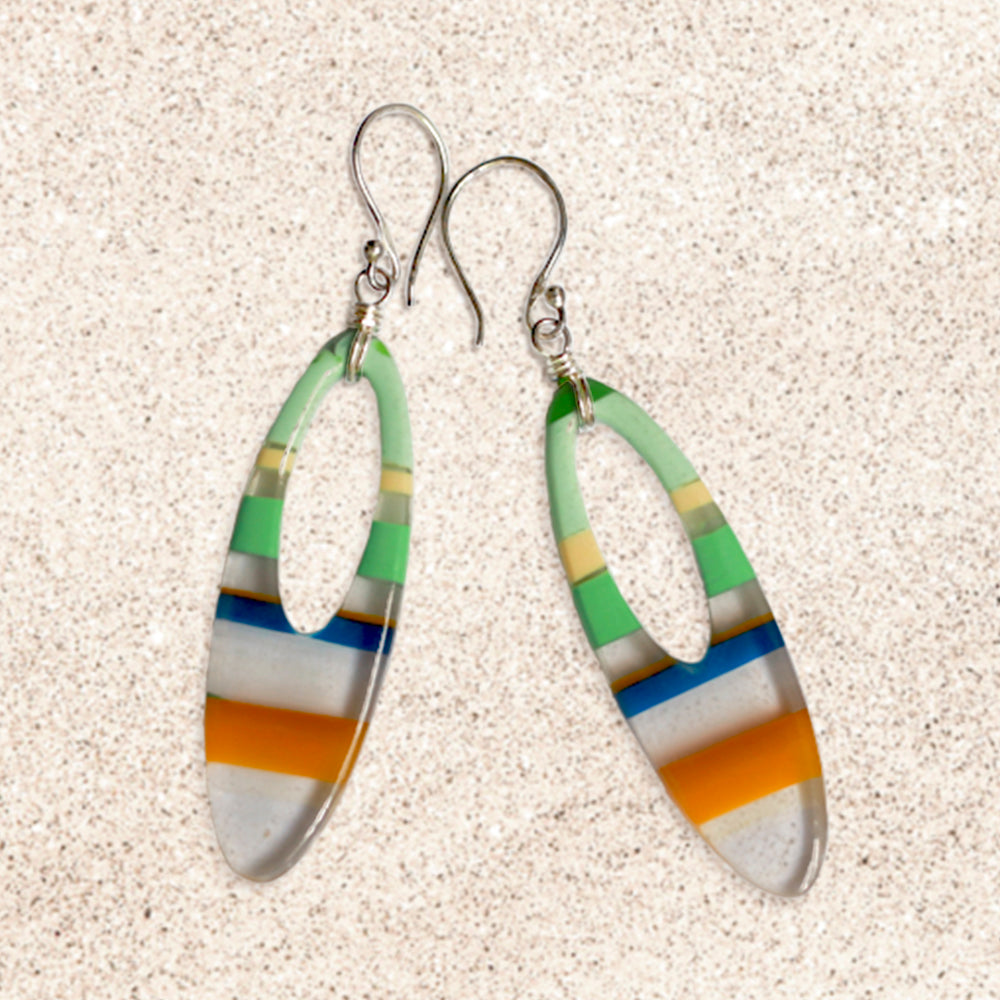 Surfboard Oval Earrings | Seeds for Kindness