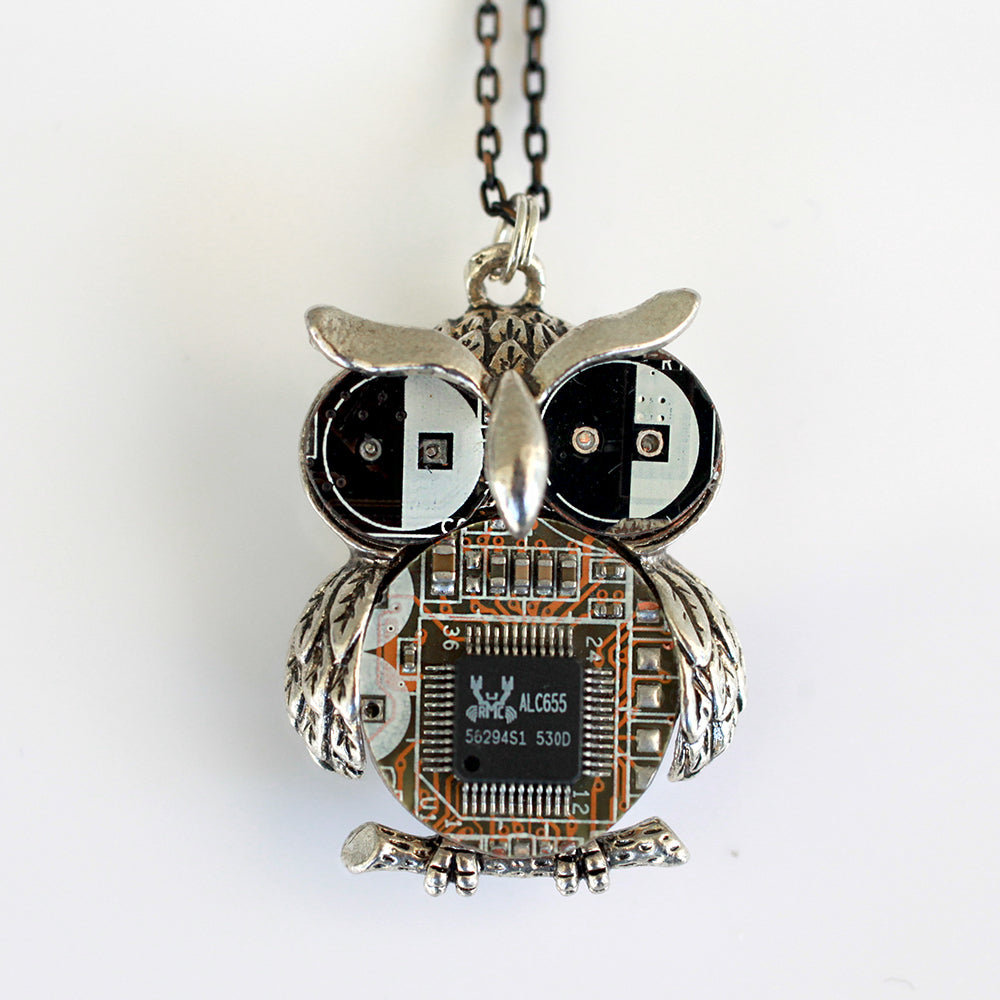 Steampunk Owl Necklace | Upcycled, Recycled, Repurposed, Reimagined | Changing Tides
