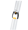 Glass Straw with Penguin | Upcycled, Recycled, Repurposed, Reimagined | Changing Tides