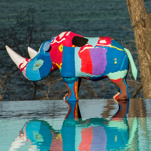 Flip-Flop Rhino | Upcycled, Recycled, Repurposed, Reimagined | Seeds for Kindness
