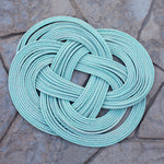 Halibut Rug - Aqua Circle | Upcycled, Recycled, Repurposed, Reimagined | Changing Tides
