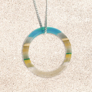 Surfboard Ring Necklace