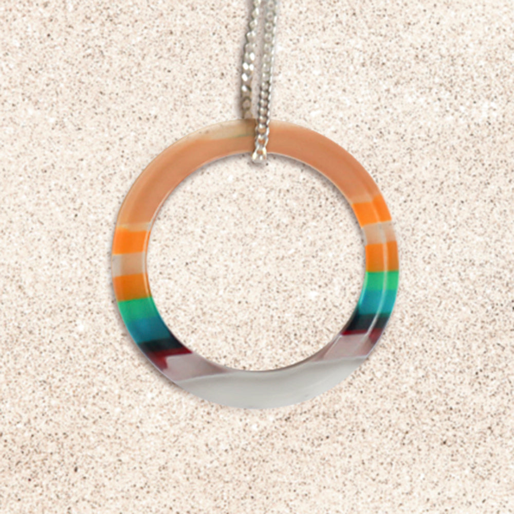 Surfboard Ring Necklace | Upcycled, Recycled, Repurposed, Reimagined | Changing Tides