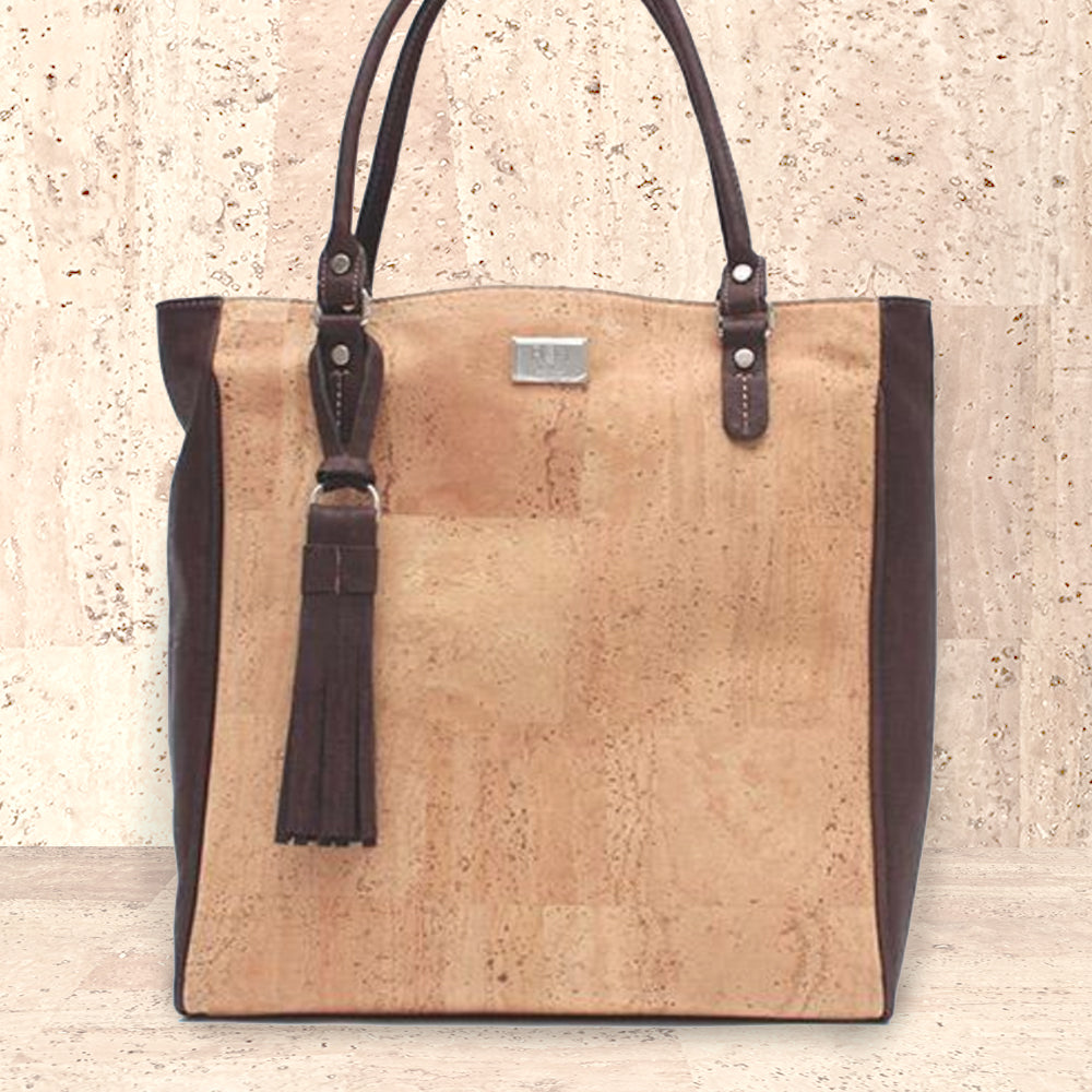Cork Sylvia Tote Bag | Upcycled, Recycled, Repurposed, Reimagined | Changing Tides