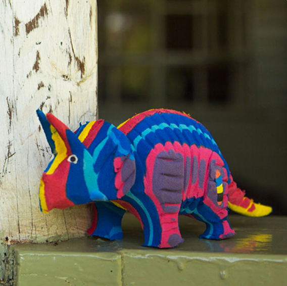 Flip-Flop Triceratops | Upcycled, Recycled, Repurposed, Reimagined | Seeds for Kindness