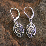Native Turtle Moon Earrings | Upcycled, Recycled, Repurposed, Reimagined | Changing Tides