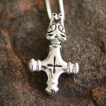 Native Viking Wolf Cross Necklace | Upcycled, Recycled, Repurposed, Reimagined | Changing Tides