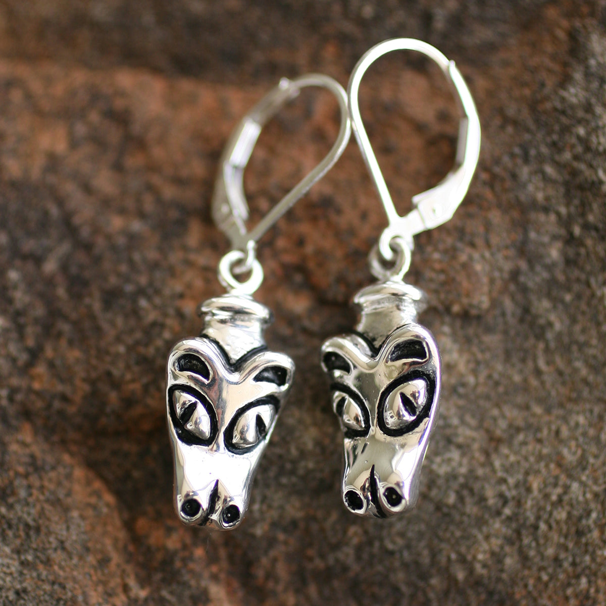 Native Wolf Earrings | Upcycled, Recycled, Repurposed, Reimagined | Changing Tides