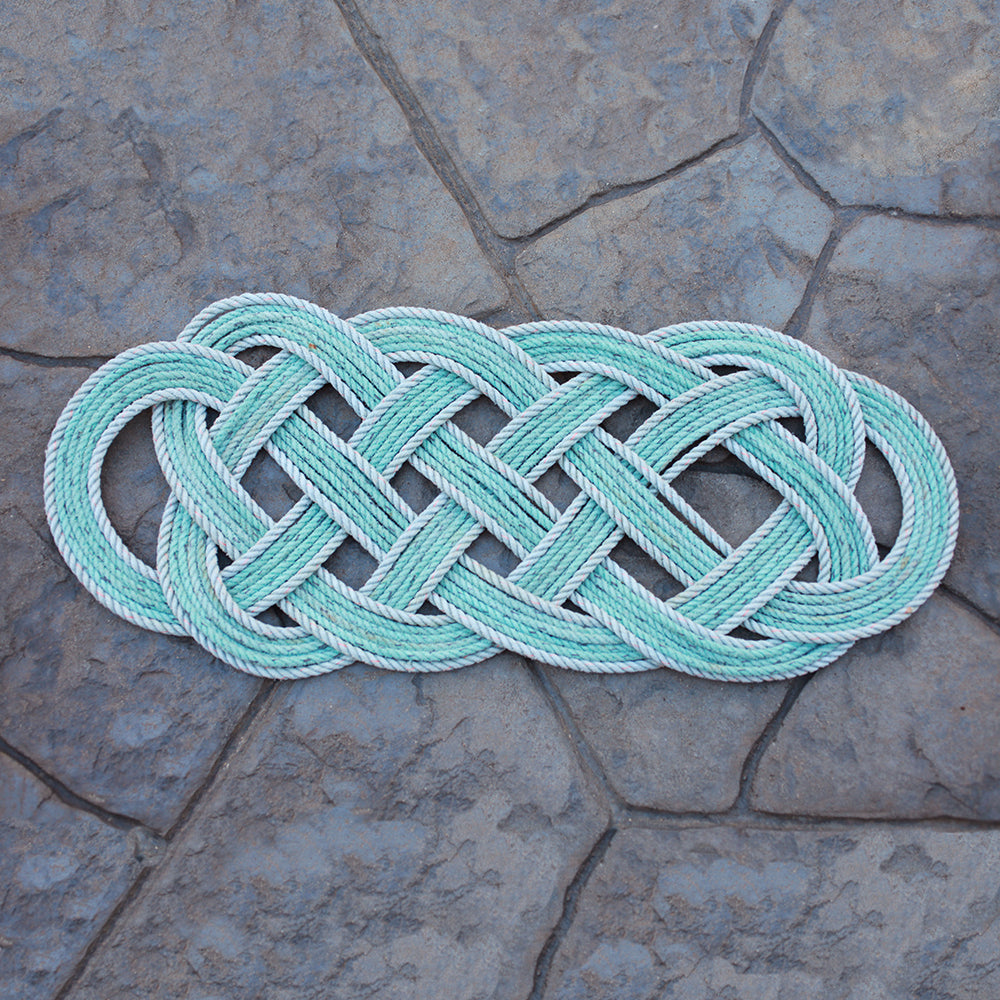 Halibut Rug - Aqua Oval