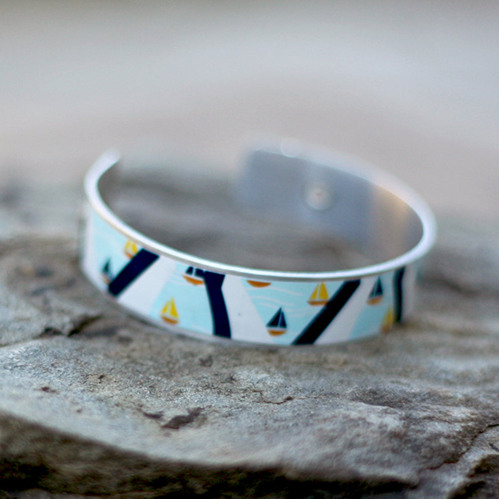 Sailboat Craft Beer Cuff Bracelet