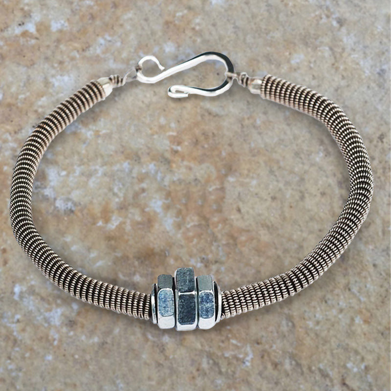 Guitar String Bracelet from Seeds for Kindness