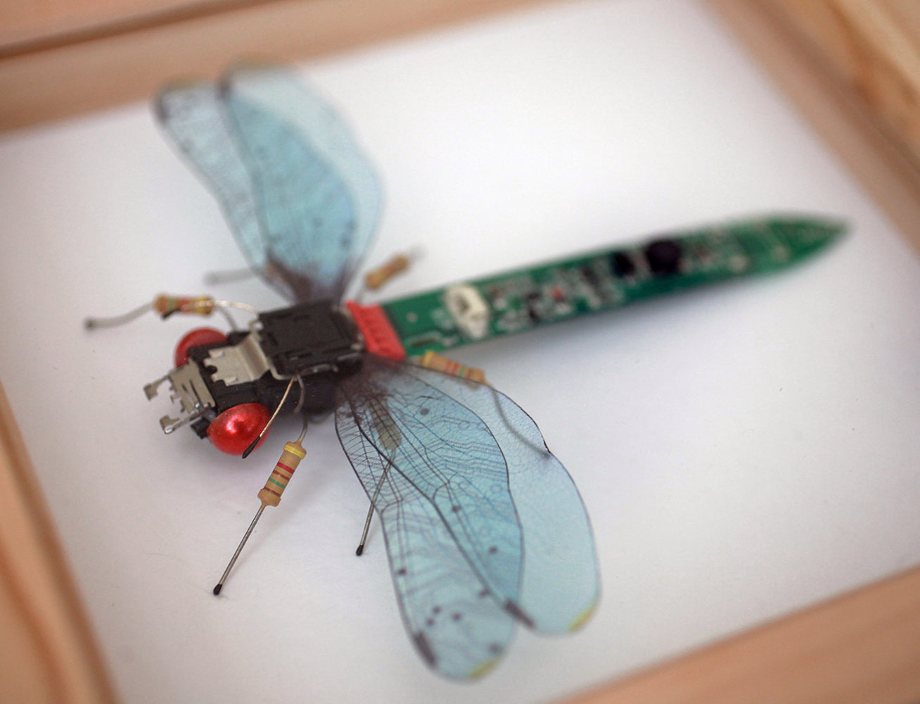 Circuit Board Blue Dragonfly | Upcycled, Recycled, Repurposed, Reimagined | Changing Tides