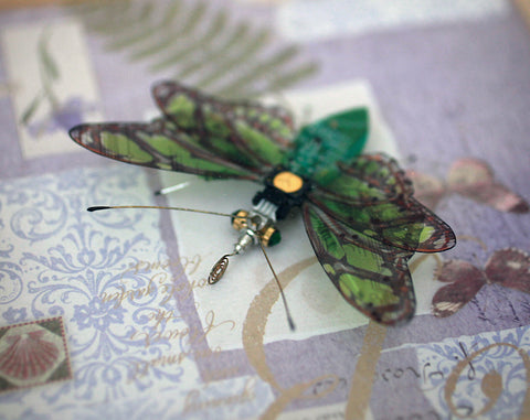 Circuit Board Green Butterfly | Upcycled, Recycled, Repurposed, Reimagined | Changing Tides