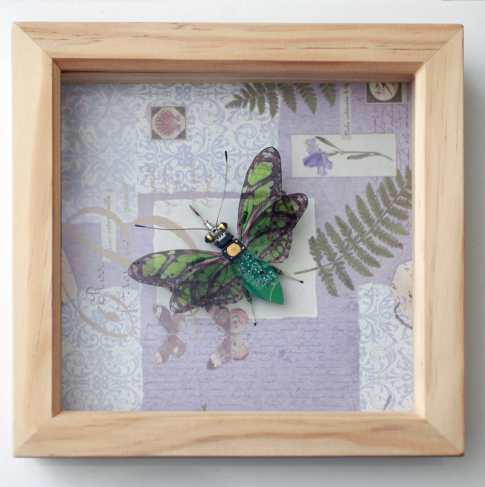 Circuit Board Green Butterfly | Seeds for Kindness | Upcycled, Repurposed, Reimagined