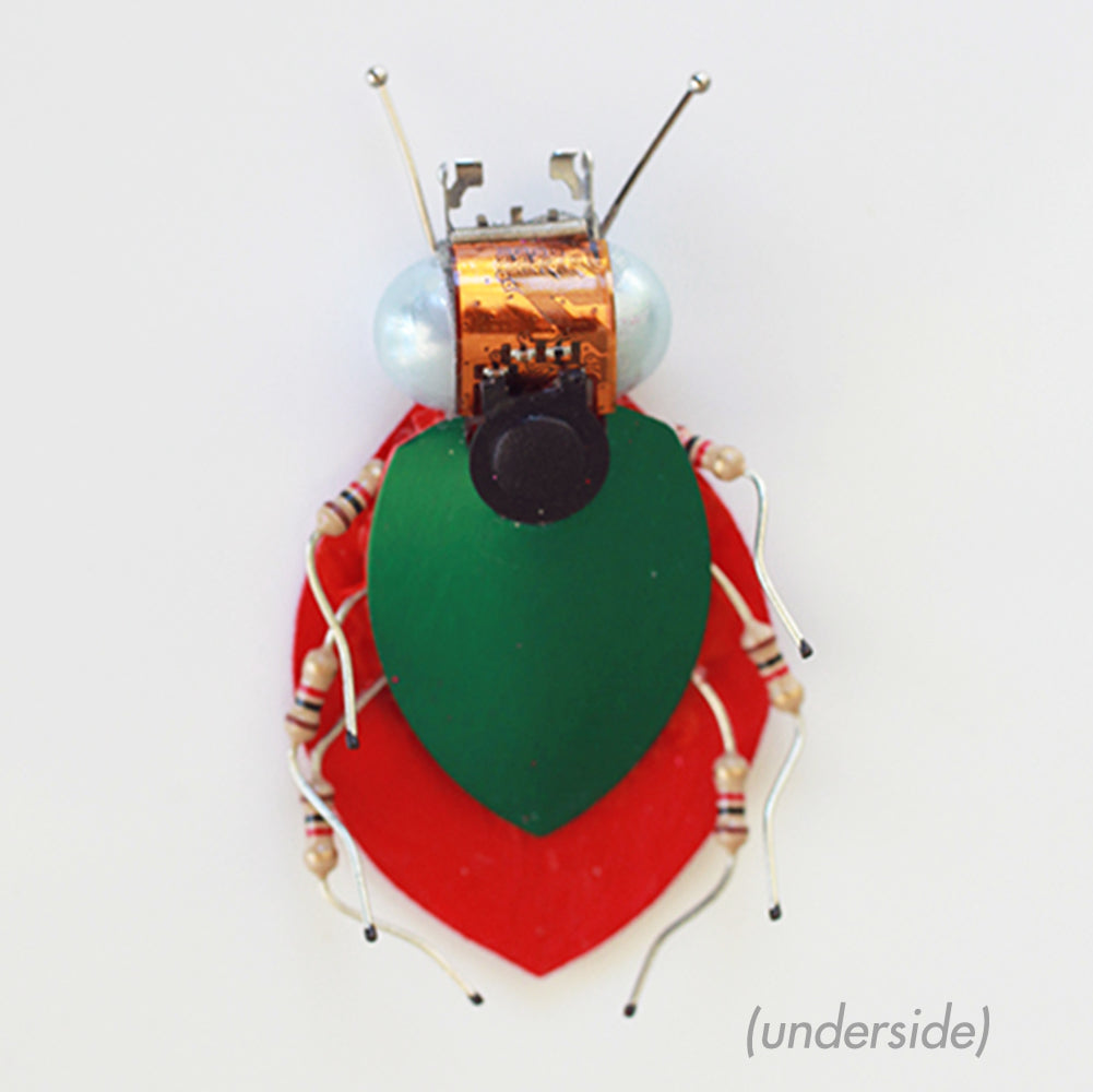 Circuit Board Ladybug | Upcycled, Recycled, Repurposed, Reimagined | Changing Tides