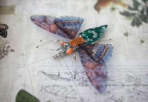 Circuit Board Wood Nymph | Upcycled, Recycled, Repurposed, Reimagined | Changing Tides