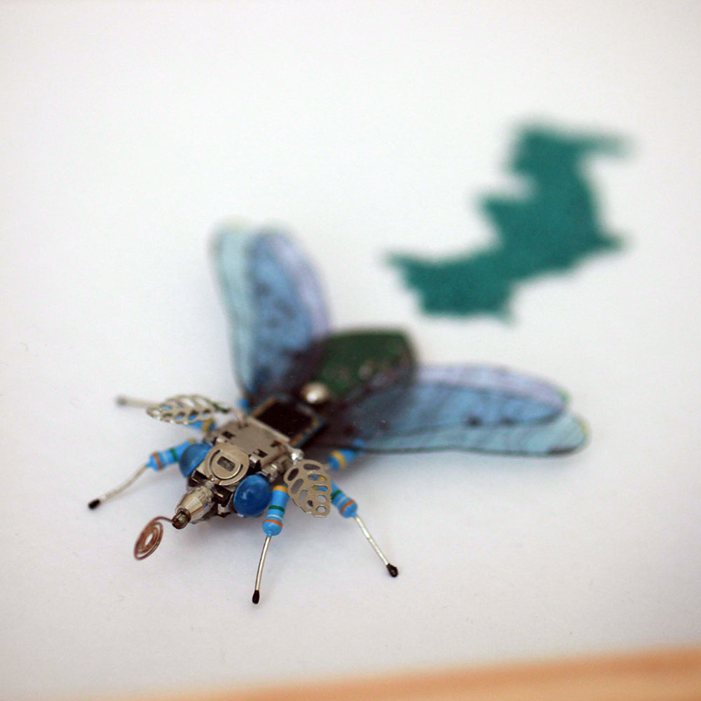 Circuit Board Moth with Eggs | Seeds for Kindness | Upcycled, Repurposed, Reimagined