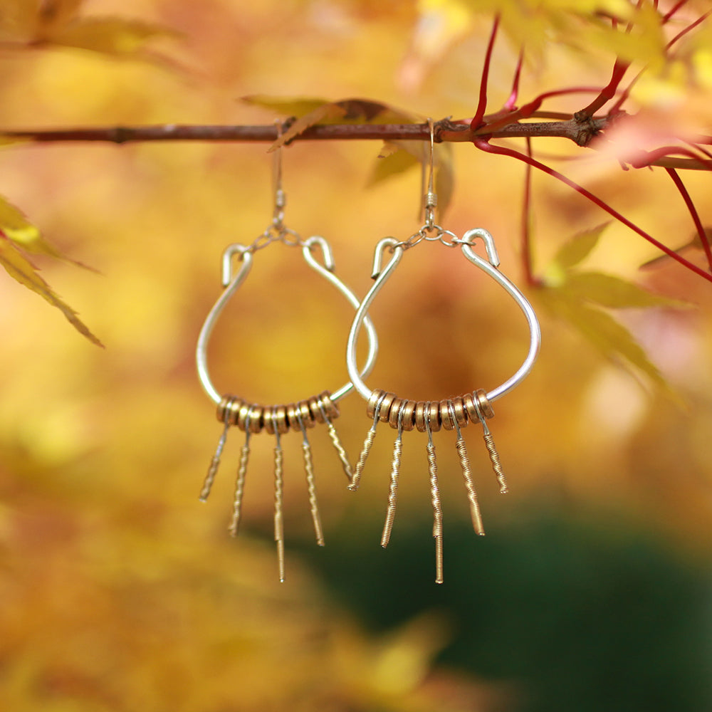 Guitar String Lyre Earrings | Upcycled, Recycled, Repurposed, Reimagined | Changing Tides
