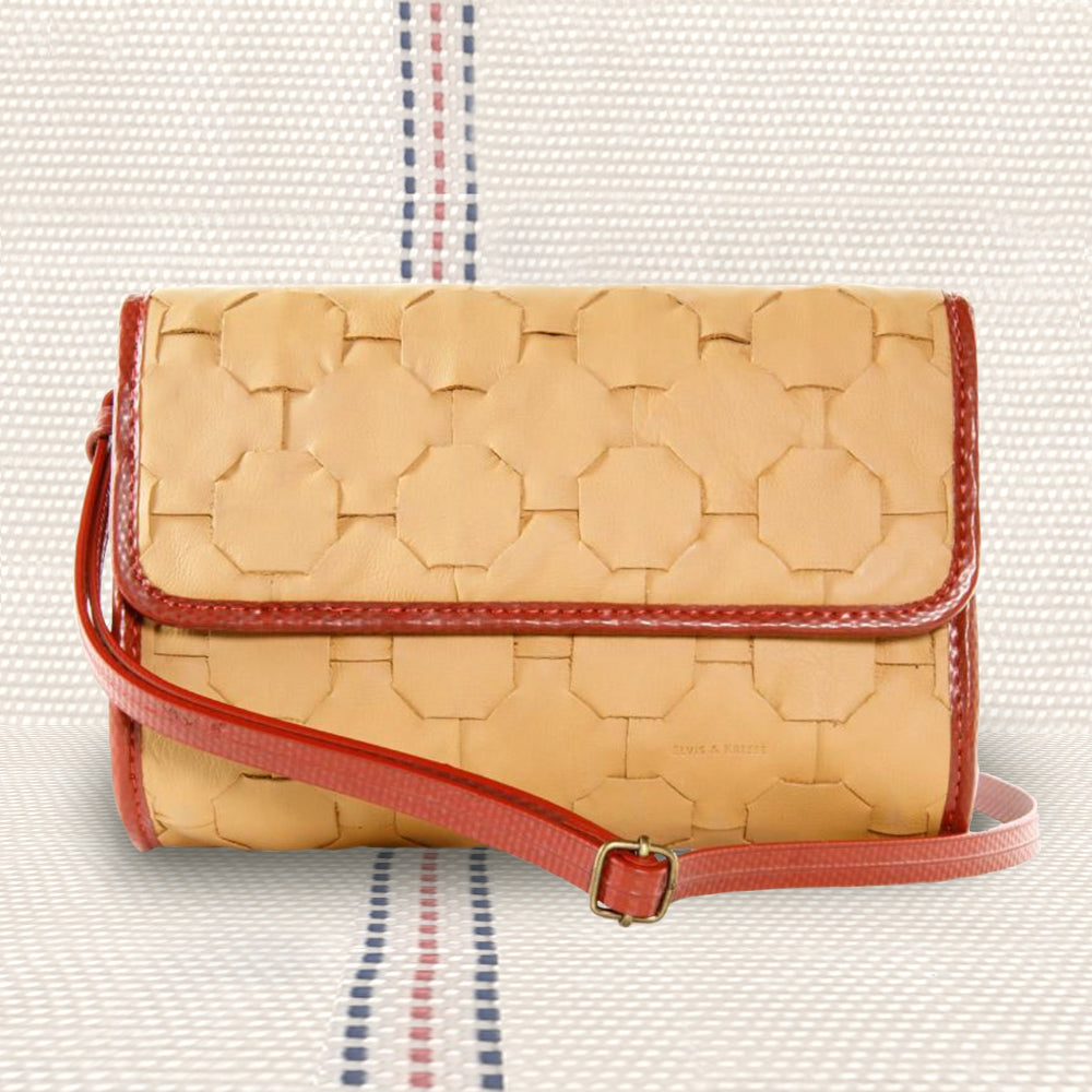 Firehose & Hide Crossbody Bag  | Upcycled, Recycled, Repurposed, Reimagined | Changing Tides