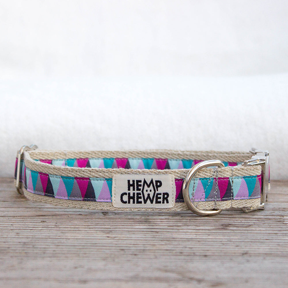 Hemp Collar - Hipster III | Upcycled, Recycled, Repurposed, Reimagined | Seeds for Kindness