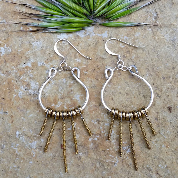 Guitar String Lyre Earrings | Seeds for Kindness