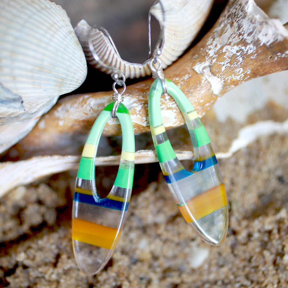 Surfboard Oval Earrings | Upcycled, Recycled, Repurposed, Reimagined | Changing Tides