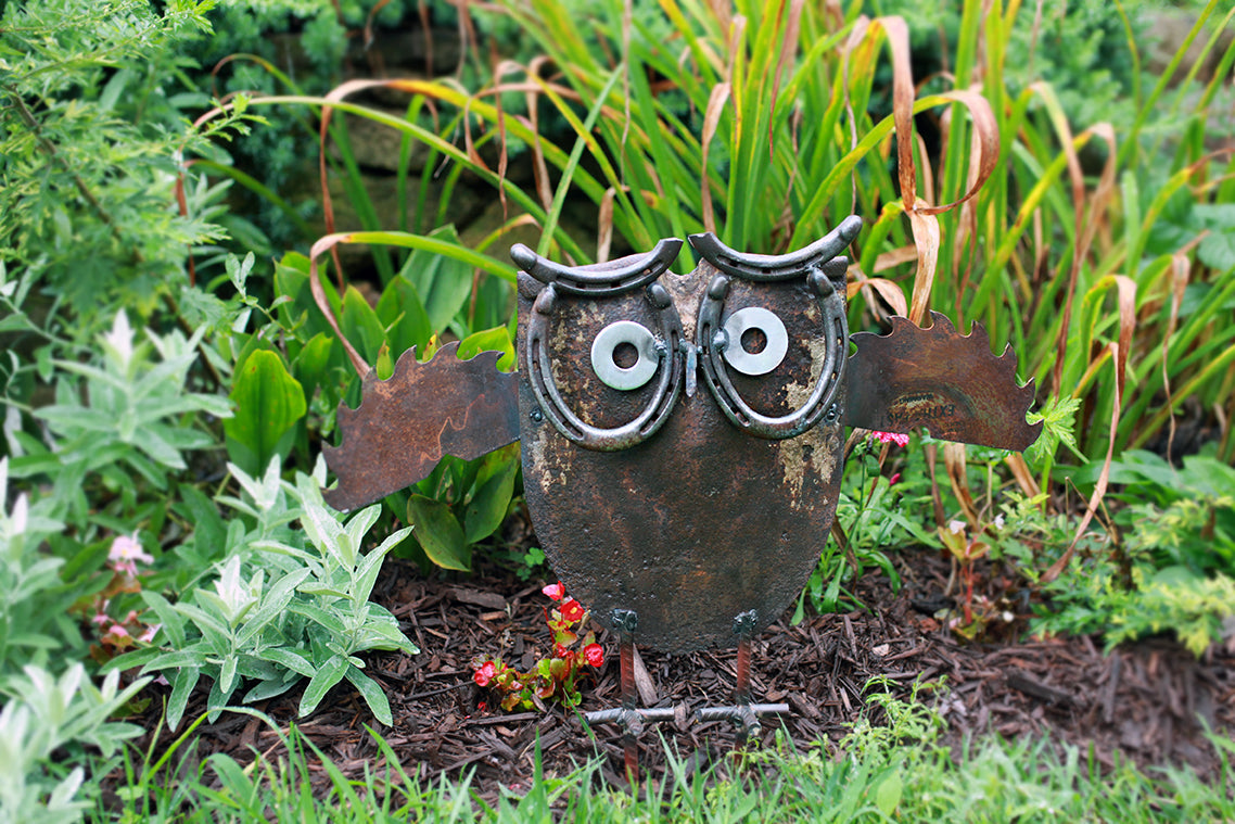 Recycled Garden Owl with Plants - by Seeds for Kindness