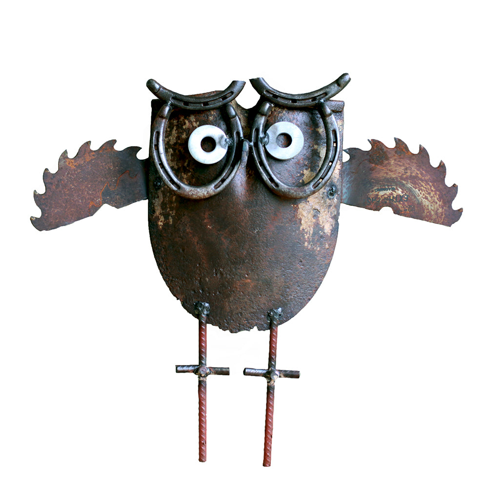Recycled Garden Owl | Upcycled, Recycled, Repurposed, Reimagined | Changing Tides