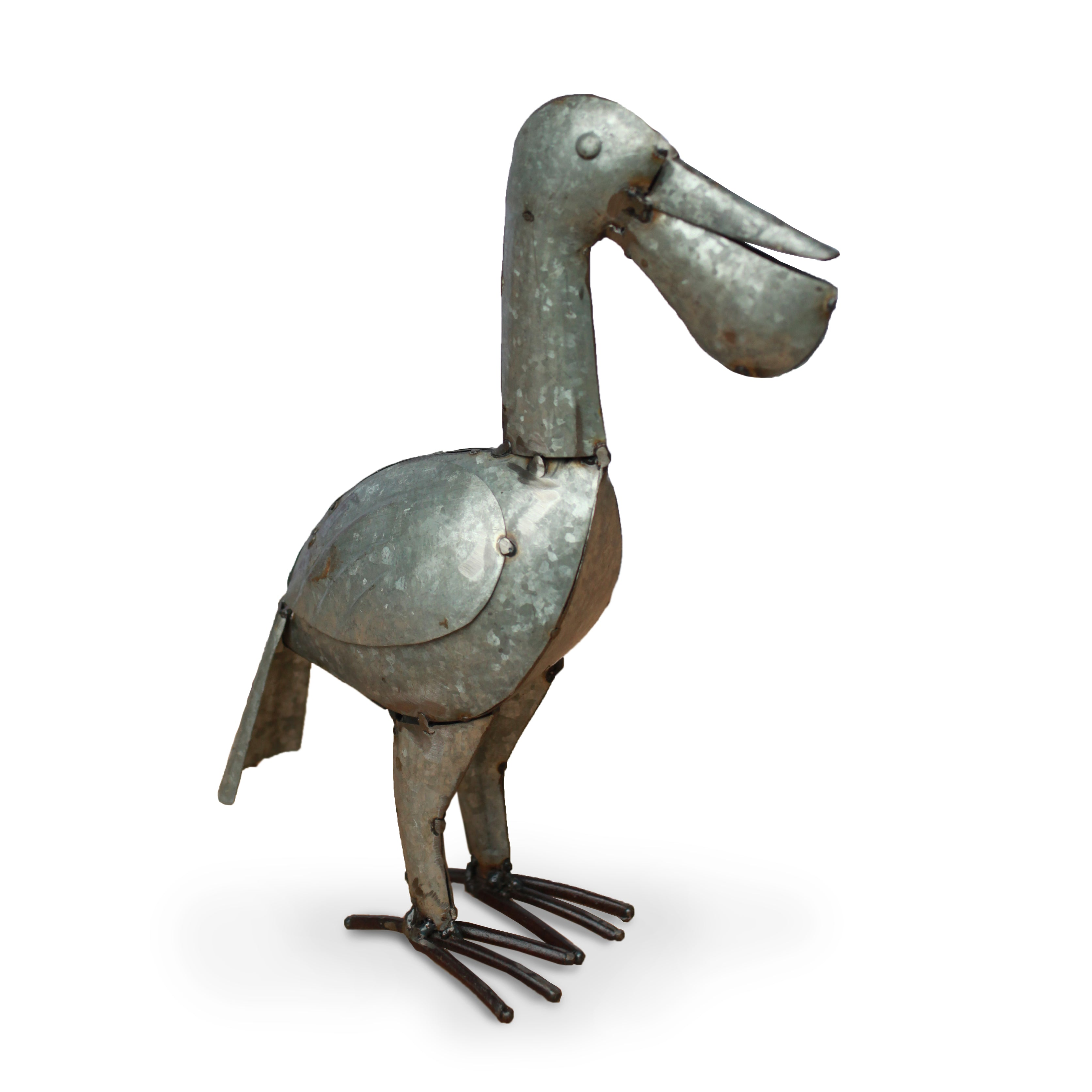 Recycled Garden Pelican | Upcycled, Recycled, Repurposed, Reimagined | Changing Tides
